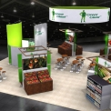 Green Giant Booth Concept Design