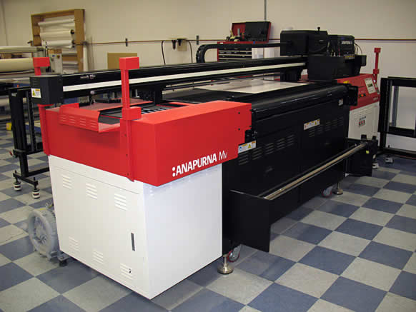 Blazer Exhibits & Events AGFA direct to surface printer