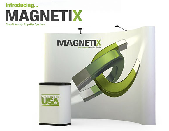 Blazer Exhibits & Events magnetix 10x10 green exhibiting system by Abex